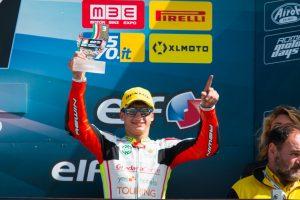 Raffaele Fusco subito a podio in gara 1 al Mugello in Moto3