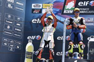 Raffaele Fusco splendido secondo in gara 1 a Misano in Moto3