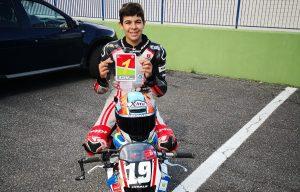 Alessandro Zanca si laurea campione italiano Ohvale 190 a Vallelunga