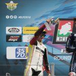 Raffaele Fusco sul bagnato conquista il podio in gara 1 in Moto3